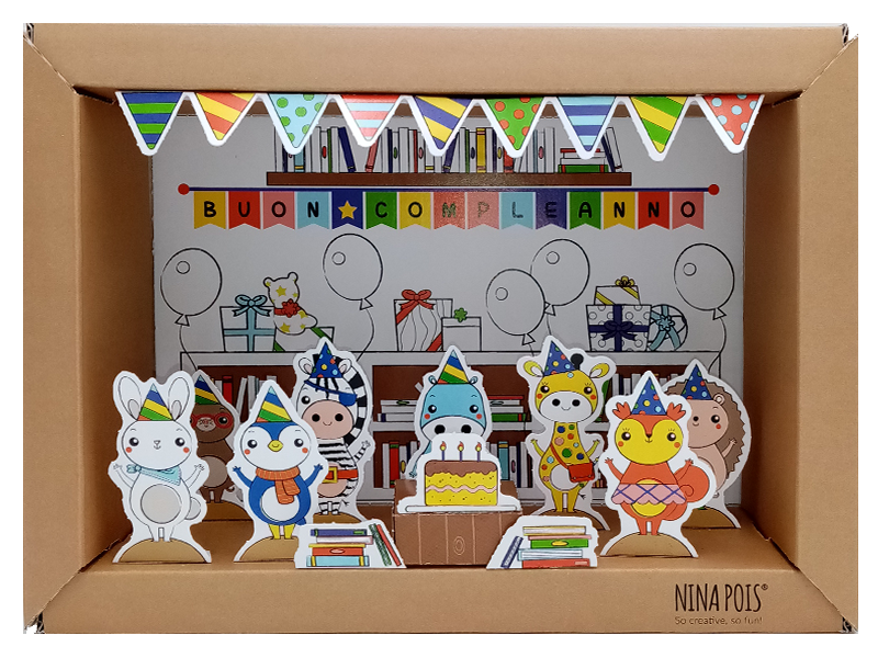 Kit creativo in carta con cornice 3D NIna Pois
